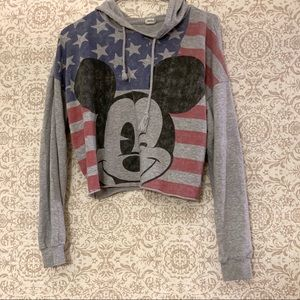 Disney Mickey Patriotic Cropped Hoodie